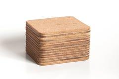 Pila de prácticos de costa texturizados corcho aislados Imagenes de archivo