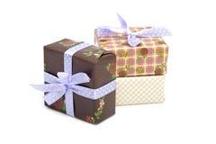 Pila de presentes de cumpleaños Fotografía de archivo libre de regalías