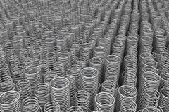 Pila de primaveras y de bobinas del metal Fotos de archivo