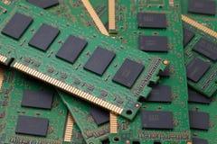 Pila de RAM Computer verde Fotografía de archivo