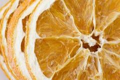 Pila de rebanadas anaranjadas secadas del top Foto de archivo libre de regalías