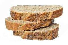 Pila de rebanadas del pan del trigo Foto de archivo