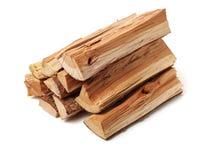 Pila de recorte de madera del fuego fotos de archivo