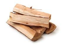 Pila de recorte de madera del fuego foto de archivo