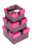 Pila de rectángulos de regalo Imágenes de archivo libres de regalías