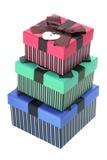 Pila de rectángulos de regalo Fotografía de archivo