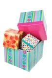 Pila de rectángulos de regalo Fotografía de archivo libre de regalías