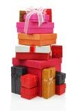 Pila de rectángulos de regalo Foto de archivo