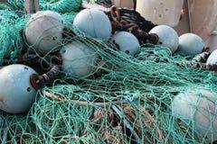 Pila de red de pesca Imagen de archivo libre de regalías