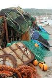 Pila de redes de pesca Fotografía de archivo