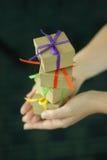 Pila de regalos Imagen de archivo libre de regalías