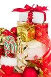 Pila de regalos de Navidad Imagen de archivo