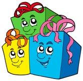 Pila de regalos lindos Imágenes de archivo libres de regalías