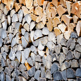 Pila de registro de madera Fotos de archivo libres de regalías