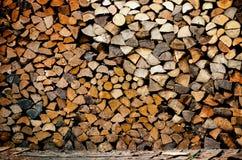 Pila de registro de madera Fotos de archivo