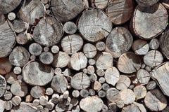 Pila de registros de madera Foto de archivo