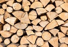 Pila de registros de madera Fotografía de archivo libre de regalías