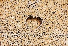 Pila de registros de madera como fondo Imagen de archivo