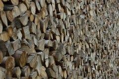 Pila de registros de madera fotos de archivo