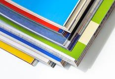 Pila de revistas Imágenes de archivo libres de regalías