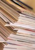 Pila de revistas Fotografía de archivo libre de regalías