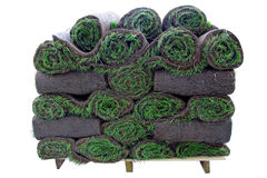 Pila de rodillos de la hierba Imagenes de archivo