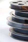 Pila de rollo de película cinematográfico viejo fotografía de archivo