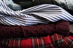 Pila de ropa limpia Fotografía de archivo libre de regalías