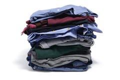 Pila de ropa plegable Imágenes de archivo libres de regalías