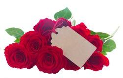 Pila de rosas rojas imagenes de archivo