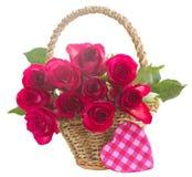 Pila de rosas rosadas Fotos de archivo