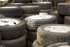 Pila de ruedas Foto de archivo libre de regalías