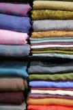 Pila de seda Imagen de archivo libre de regalías