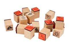 Pila de sellos Imagen de archivo libre de regalías