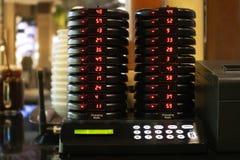Pila de sistema de llamada de la radio de la paginación de la cola foto de archivo libre de regalías