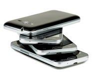 Pila de smartphones foto de archivo