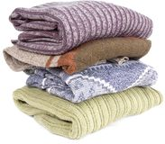 Pila de suéteres Foto de archivo
