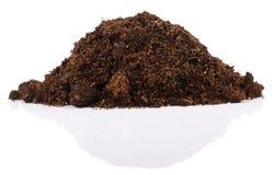 Pila de suelo para la planta Imágenes de archivo libres de regalías