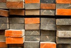 Pila de tablón de madera Foto de archivo libre de regalías