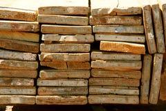 Pila de tablones Foto de archivo libre de regalías