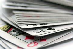 Pila de tarjetas Fotografía de archivo libre de regalías