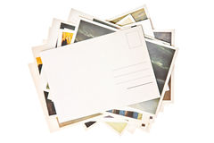 Pila de tarjetas coloridas Fotos de archivo