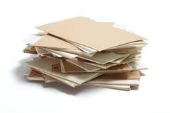 Pila de tarjetas de índice Foto de archivo libre de regalías