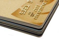 Pila de tarjetas de crédito Foto de archivo libre de regalías