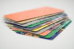 Pila de tarjetas de crédito Fotografía de archivo