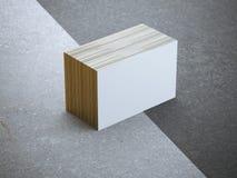 Pila de tarjetas de visita en blanco imágenes de archivo libres de regalías