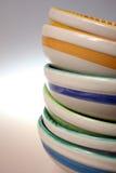 Pila de tazón de fuente aislada Imágenes de archivo libres de regalías