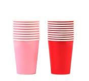Pila de taza de café de papel colorida. Imágenes de archivo libres de regalías
