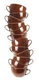 Pila de tazas Fotografía de archivo libre de regalías