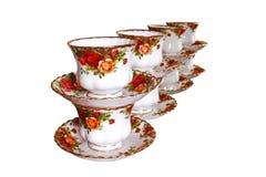 Pila de tazas de café Fotos de archivo libres de regalías